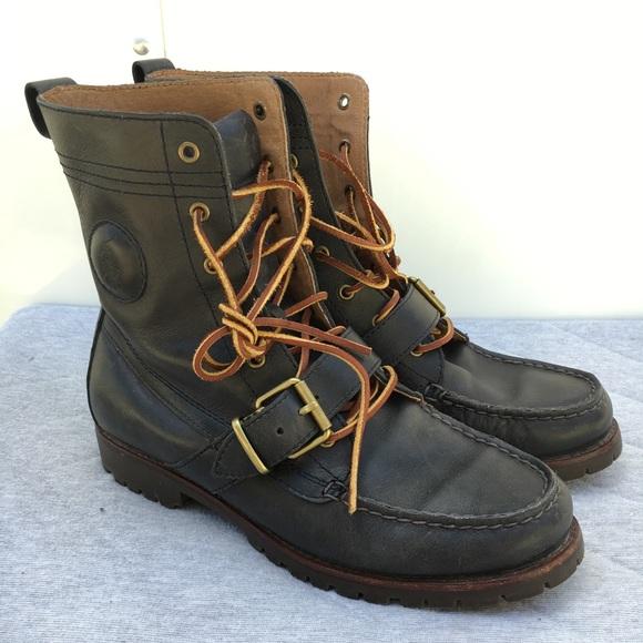 6f70de657aa M8 Polo Ralph Lauren Ranger Boots Dark Dark Blue